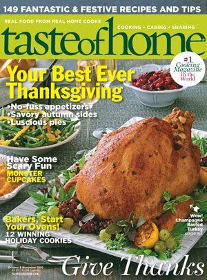 Sept. 28 - Taste of Home October/November 2010 Issue
