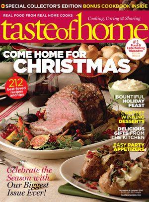 Nov. 30 - Taste of Home December/January 2011 Issue