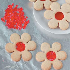 Cutouts with candy centers
