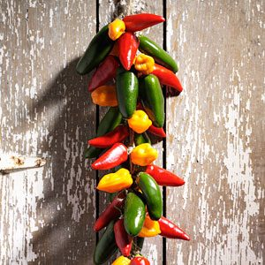 How to Dry Chili Peppers