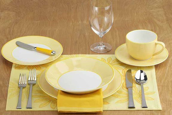 Informal Dinner Or Luncheon Table Setting