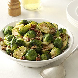 Maple Pecan Brussel Sprouts
