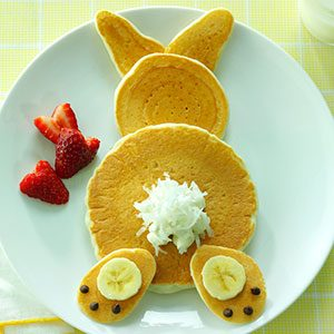 Decorating Idea: Bunny Pancakes