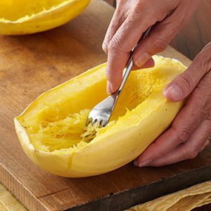 Prepping & Cooking Spaghetti Squash