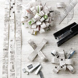 How To: Newspaper Bow
