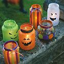 Halloween Decoupage Lanterns Photo