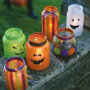 Halloween Decoupage Lanterns