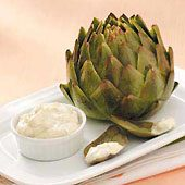 Artichokes with Lemon-Mint Dressing